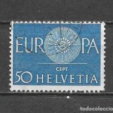 Sellos: SUIZA 1960 SELLO USADO - 5/11. Lote 297066748