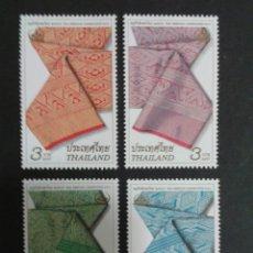 Sellos: SELLOS DE TAILANDIA. TEJIDOS. YVERT 2102/5. SERIE COMPLETA NUEVA SIN CHARNELA.. Lote 63454868