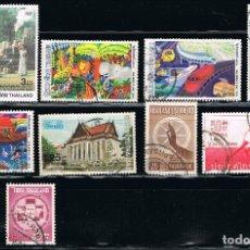 Sellos: TAILANDIA - LOTE DE 10 SELLOS - VARIOS (USADO) LOTE 5. Lote 103217427