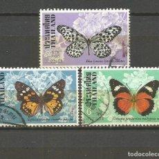 Sellos: TAILANDIA YVERT NUM. 858 , 859 Y 861 USADOS FAUNA MARIPOSAS. Lote 106727371