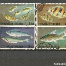 Sellos: TAILANDIA YVERT NUM. 846/849 SERIE COMPLETA USADA FAUNA PECES. Lote 106727579