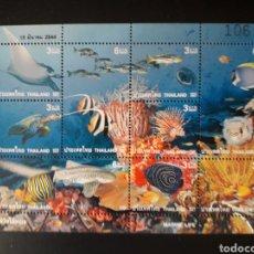 Sellos: TAILANDIA. YVERT 1958/66. SERIE COMPLETA NUEVA SIN CHARNELA. FAUNA. PECES.. Lote 118690318