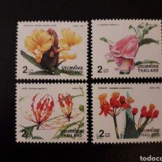 Sellos: TAILANDIA. YVERT 1836/9. SERIE COMPLETA NUEVA SIN CHARNELA. FLORA. FLORES.. Lote 132239469
