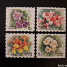 Sellos: TAILANDIA. YVERT 1904/7. SERIE COMPLETA NUEVA SIN CHARNELA. FLORA. FLORES.. Lote 132239735