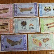Sellos: THAILANDIA; TEMA MÚSICA, INSTRUMENTOS MNH.. Lote 154103832