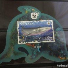 Sellos: TAILANDIA 2019 - HOJITA BLOQUE WWF NUEVO. Lote 178323461