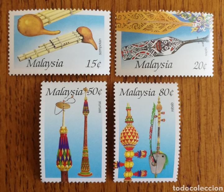 MALASIA, N°351/54 MNH,INSTRUMENTOS MUSICALES 1987 (FOTOGRAFÍA REAL) (Sellos - Extranjero - Asia - Tailandia)