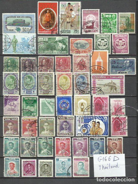 G166D-LOTE SELLOS THAILANDIA SIAM ANTIGUOS,SIN TENER EN CUENTA EL VALOR, DIFERENTES ,ASIA. (Sellos - Extranjero - Asia - Tailandia)