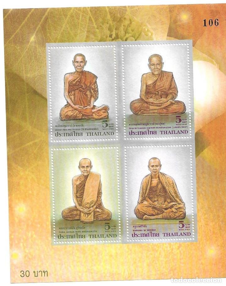 2005-TAILANDIA. MONJES BUDISTAS ALTAMENTE VENERADOS. HOJA BLOQUE (Sellos - Extranjero - Asia - Tailandia)