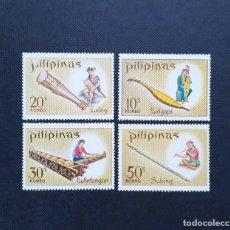 Sellos: SELLOS DE FILIPINAS 1968, DIA DE SANTA CECILIA, INSTRUMENTOS MUSICALES. Lote 213808790