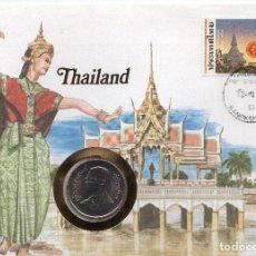 Sellos: TAILANDIA NUMISBRIEF 1984 MICHEL 1084 + Y 160. Lote 215439847