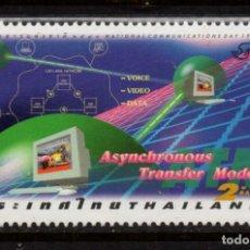Sellos: TAILANDIA 1806** - AÑO 1998 - MODELO DE TRANSFERENCIA ASINCRONICA. Lote 220271155