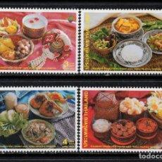 Sellos: TAILANDIA 1998/2001** - AÑO 2002 - GASTRONOMIA - PLATOS TIPICOS. Lote 220966025