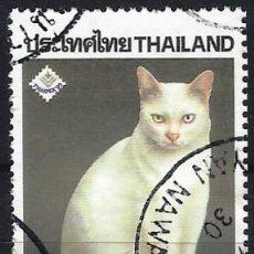 """Sellos: TAILANDIA 1995 - EXPO. NACIONAL DE SELLOS """"THAIPEX"""" - GATOS - USADO. Lote 222799902"""