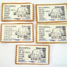 Sellos: (6) LOTE 5 SELLOS USADOS TAHILANDIA. Lote 225530980