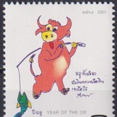 Sellos: ⚡ DISCOUNT THAILAND 2021 CHINESE NEW YEAR - YEAR OF THE OX MNH - NEW YEAR. Lote 253859955