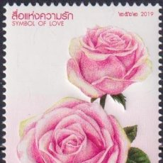 Sellos: ⚡ DISCOUNT THAILAND 2019 VALENTINE'S DAY MNH - FLOWERS, ROSES. Lote 260557595