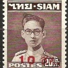 Sellos: TAILANDIA - 1948 - RAMA IX - 20 ST - CON SOBRECARGA - NUEVO. Lote 268161989
