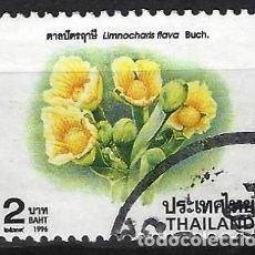 Sellos: TAILANDIA 1996 - FLORES, LIMNOCHARIS FLAVA - USADO. Lote 270614943