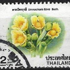 Sellos: TAILANDIA 1996 - FLORES, LIMNOCHARIS FLAVA - USADO. Lote 270614988