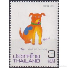 Sellos: TH3781 THAILAND 2018 MNH CHINESE NEW YEAR - YEAR OF THE DOG. Lote 287530058