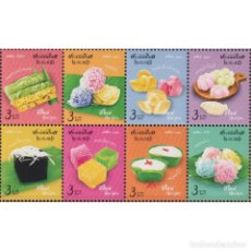 Sellos: TH3932 THAILAND 2020 MNH NEW YEAR 2021 - TRADITIONAL DESSERTS. Lote 287530168