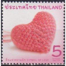 Sellos: TH3786 THAILAND 2018 MNH SYMBOL OF LOVE. Lote 287531323