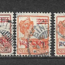 Sellos: HOLANDA INDIES 1922 SERIE COMPLETA USADO - 8/22. Lote 292540738
