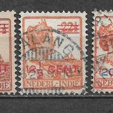 Sellos: HOLANDA INDIES 1922 SERIE COMPLETA USADO - 8/22. Lote 292540793