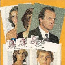 Sellos: 1984 TARJETAS MÁXIMAS EXPO.MUNDIAL DE FILATELIA ´84 FAMILIA REAL. Lote 14783201