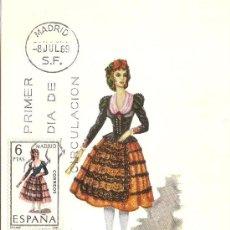 Sellos: TRAJE REGIONAL DE MADRID - PRIMER DIA DE MUNDO FILATELICO.. Lote 31130288