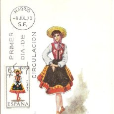 Sellos: TRAJE REGIONAL DE SEGOVIA - PRIMER DIA DE MUNDO FILATELICO.. Lote 31130294