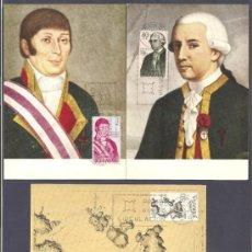 Sellos: TARJETAS MÁXIMAS FORJADORES 1967. Lote 31741420
