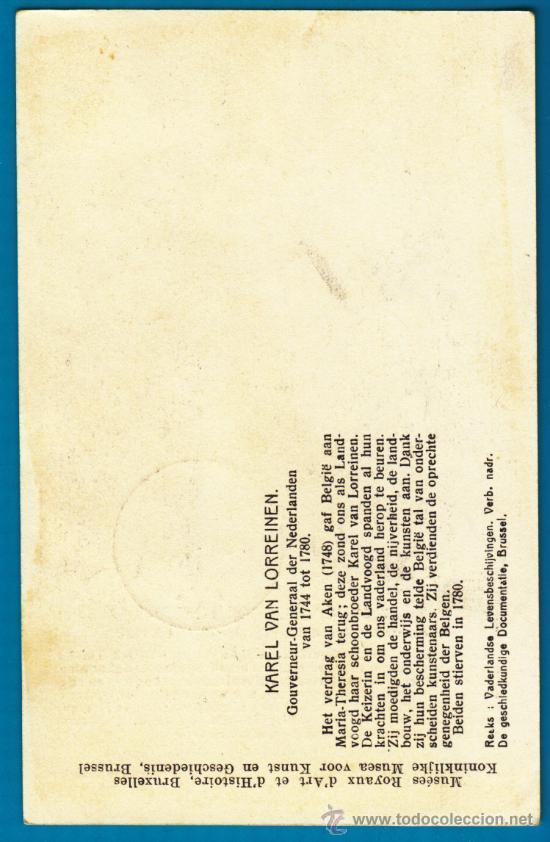 Sellos: TARJETA MAXIMA BELGICA CHARLES DE LORRAINE, CIRCULADA EL AÑO 1954 - Foto 2 - 34404048