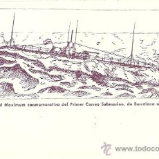 Sellos: 4248 - CORREO SUBMARINO DE BARCELONA A MAHON. TARJETA MAXIMA - NUEVA - ESCASA TIRADA. Lote 38403842