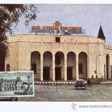 Sellos: TARJETA MAXIMA PD ** 45 FERIA MUESTRARIO INTERNACIONAL DE VALENCIA ** 1967 - COCHES ANTIGUOS. Lote 40140457