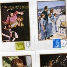 Sellos: AÑO 1977. 7 TARJETAS MAXIMAS BASICA REY. MATASELLO PRIMER DIA 6-6-1977. Lote 125449706