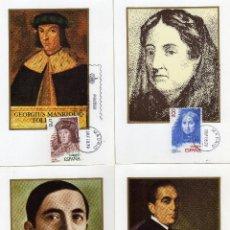 Sellos: AÑO 1979. PERSONAJES ESPAÑOLES. SERIE COMPLETA. 4 TARJETAS MAXIMAS. Lote 46714273