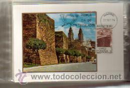 TARJETAS BIMILENARIO DE LUGO 1976 COMPLETA 3 VALORES PRIMER DIA MADRID. VER FOTOS (Sellos - España - Tarjetas Máximas )