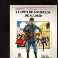 Sellos: TARJETA .- CUERPO DE BOMBEROS DE MADRID MATASELLOS MADRID VER FOTO QUE NO TE FALTE EN TU COLECCION. Lote 50385950