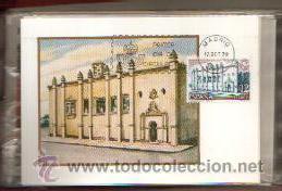 TARJETAS AMERICA Y ESPAÑA MONUMENTOS COMPLETA 2 VALORES AÑO 1979 PRIMER DIA MADRID VER FOTOS (Sellos - España - Tarjetas Máximas )