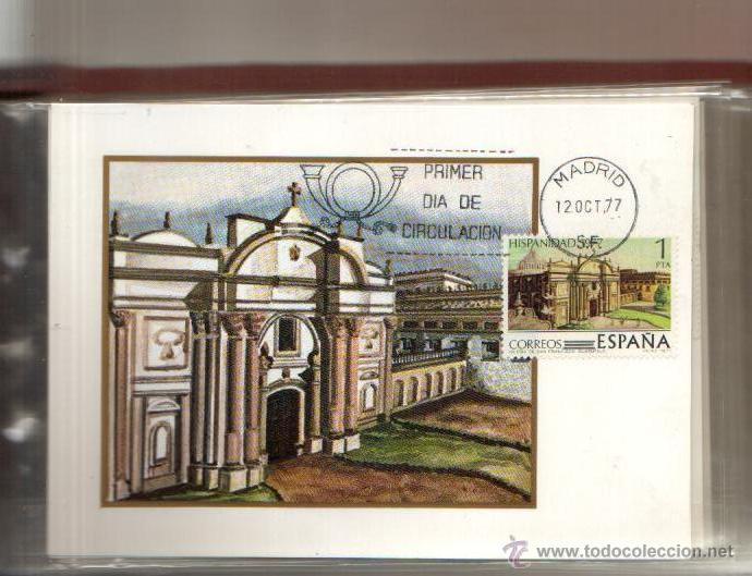 Sellos: TARJETA HISPANIDAD GUATEMALA COMPLETA 4 VALORES AÑO 1977 PRIMER DIA MADRID VER FOTO QUE NO TE FALTEN - Foto 4 - 50509472