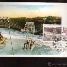 Sellos: TORRES QUEVEDO: TRANSBORDADOR SOBRE EL NIAGARA MATASELLO ESPECIAL SABADELL . VER FOTOS. Lote 50630121