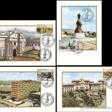 Sellos: EDIFIL 2439/42, HISPANIDAD GUATEMALA, TARJETA MAXIMA DE PRIMER DIA ESPAMER COLON DE 12-10-1977. Lote 58606905