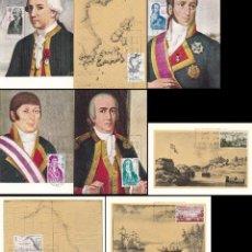 Sellos: EDIFIL 1819/26, FORJADORES DE AMERICA 1967, TARJETA MAXIMA DE PRIMER DIA 12-10-1967, SERIE COMPLETA. Lote 55775639