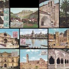 Sellos: EDIFIL 1726/35, SERIE TURISTICA 1966, 10 TARJETAS MAXIMAS DE PRIMER DIA DEL AÑO 1966. Lote 55974482