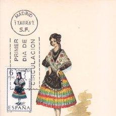 Sellos: TRAJES TIPICOS ESPAÑOLES 1967 TRAJE DE ALMERIA (EDIFIL 1770) EN TARJETA MAXIMA PRIMER DIA DE MF.. Lote 48635039