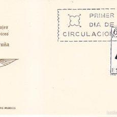 Sellos: TRAJE DE LA CORUÑA TRAJES TIPICOS ESPAÑOLES 1968 (EDIFIL 1841) EN TARJETA MAXIMA PRIMER DIA IM. WXZ. Lote 48567087