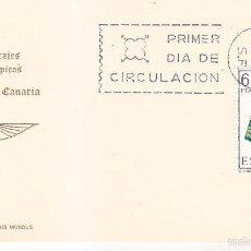 Sellos: TRAJE DE LAS PALMAS CANARIAS TRAJES TIPICOS ESPAÑOLES 1968 (EDIFIL 1845) EN TM PRIMER DIA DE IM. WXZ. Lote 48549437