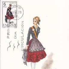 Sellos: TRAJES TIPICOS ESPAÑOLES 1970 TRAJE DE PALENCIA (EDIFIL 1949) EN TARJETA MAXIMA PRIMER DIA DE MF.. Lote 23426126